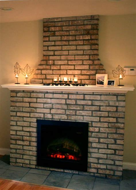 20 inch stove building an electric fireplace with brick facade hgtv