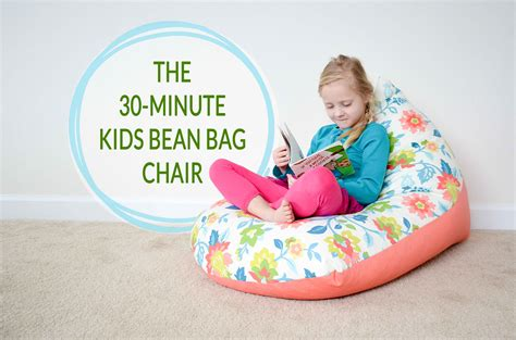 diy sew a kids bean bag chair in 30 minutes project nursery