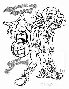 Scary Halloween Colouring Pages 2669285