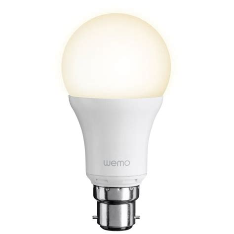 wemo light bulb belkin wemo led single light bulb bayonet homeware