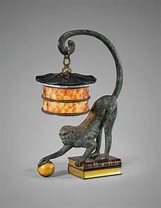 vintage bronze monkey lamp With bronze monkey floor lamp