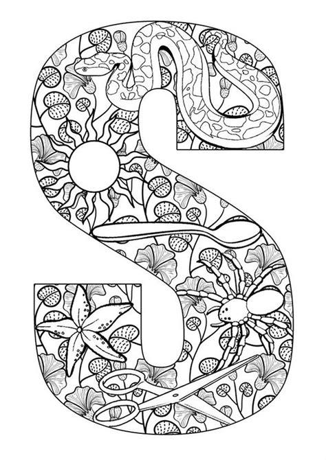 Kleurplaat Woorden by Kleurplaat Volwassenen Letters Gratis Printen En