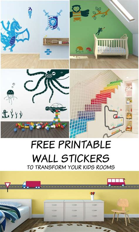 printable wall stickers  kids rooms   playroom