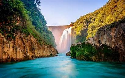 Scenery Wallpapers Waterfall Background Screen Apkpure Poster