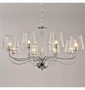 Grand Lustre Design : grand lustre baroque 8 verres transparents ~ Melissatoandfro.com Idées de Décoration