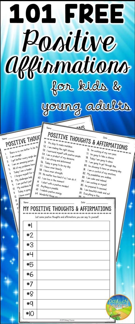 positive thinking affirmations positive affirmations