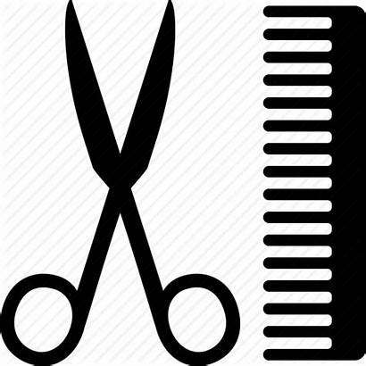 Comb Scissors Barber Clipart Icon Salon Svg