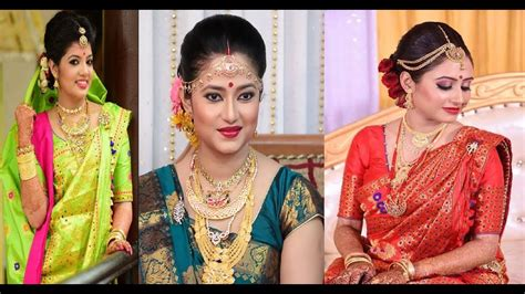 latest assamese gorgeous bridal mekhela sadar makeup