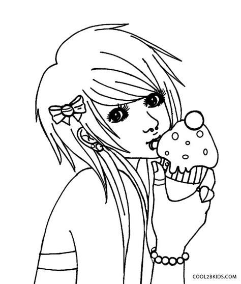 drawn emo coloring page pencil   color drawn emo