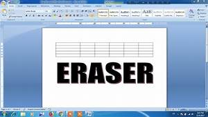 How To Use Eraser In Microsoft Word