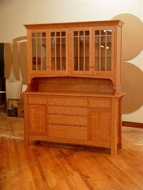 hand crafted cherry hutch  kirk custom furniture