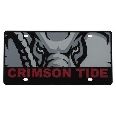 crimson tide colors alabama crimson tide color mega inlay license plate