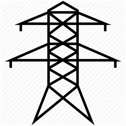 Icon Power Lines Grid Tower Electric Line