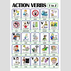 Pictionary  Action Verb Set (5)  From T To Z Worksheet  Free Esl Printable Worksheets Made By