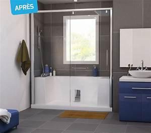 Transformer Baignoire En Douche : douche italienne et baignoire go79 jornalagora ~ Dallasstarsshop.com Idées de Décoration