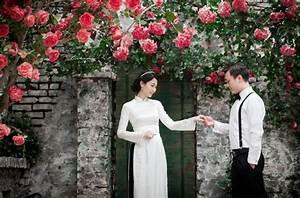 Chụp ảnh cưới với áo dài mang nét đẹp truyền thống vào
