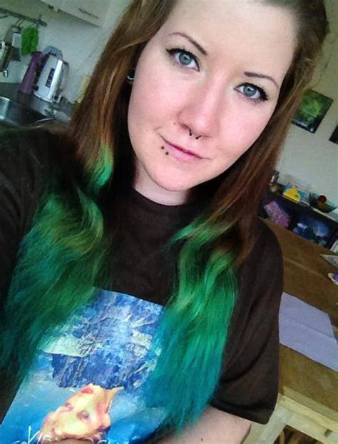 Got My Green Hair Back With Blue Tips Ive Colored My