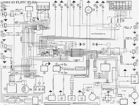 harley davidson 1991 93 flstc flhs wiring diagram service manual free schematics