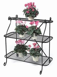 Wrought Iron 3 Tier Plant Stand Garden Trend