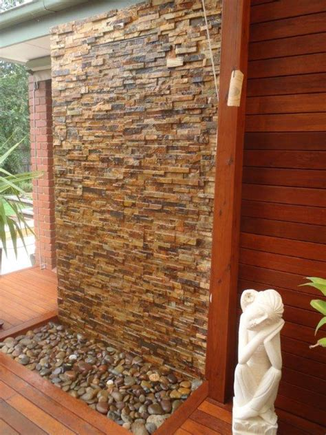 diy indoor water wall diy wall cascading water features with stone cladding diymegastore com au