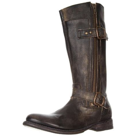 bed stu gogo boots bed stu 6893 womens gogo belted distressed mid calf