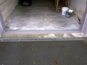 porte de garage basculante With seuil de porte de garage en beton