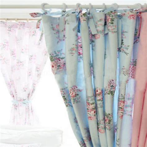 shabby chic curtains blue beautiful shabby chic curtain