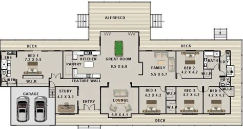 3 Bedroom Townhouse Plans Australia by 5 Bed Study Modern Homesteadhouse 557hs 2 Car Garage