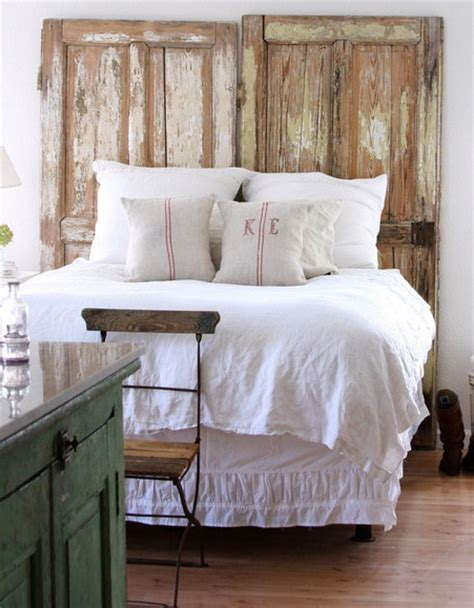 Vintage Door Headboard by She Said Repurposed Inspiration Headboards