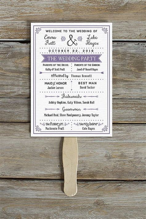 unique   printable wedding programs cricut