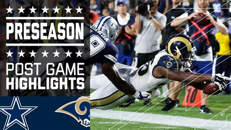 cowboys  rams game highlights nfl youtube