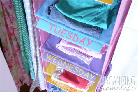Days Of The Week Closet Organizer For by Organizing A Shared Room Closet Easyclosets