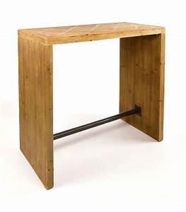 Table Bar Bois : table haute bois et metal ~ Teatrodelosmanantiales.com Idées de Décoration