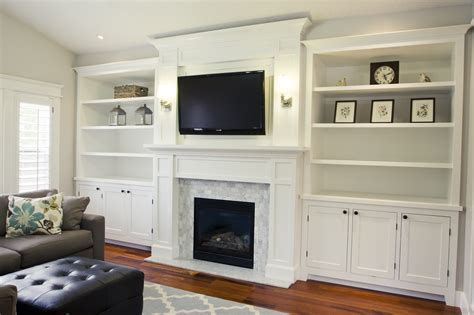built in place pretty tv fireplace bookcases hobby pinterest