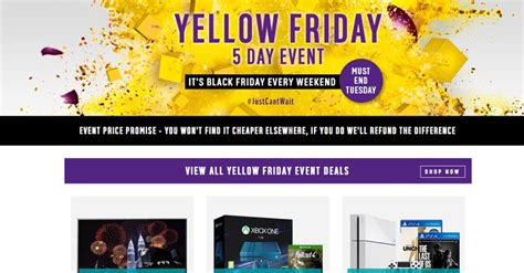 argos yellow friday  day sale event