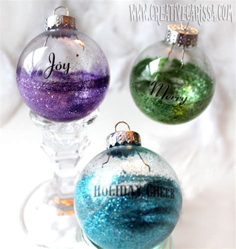 23 diy glitter christmas decorations you should make