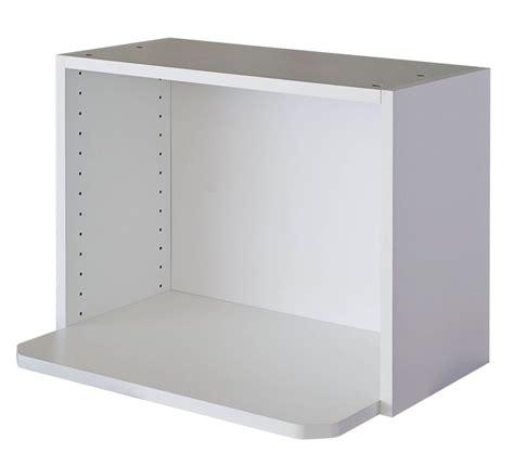 eurostyle meuble micro onde 24 x 17 5 8 m 233 lamine blanc