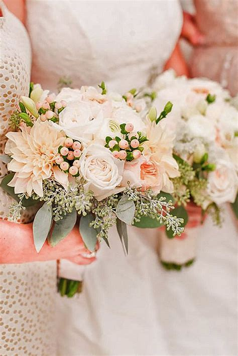 glamorous blush wedding bouquets  inspire blush