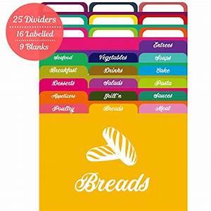 Akshaya, Recipe, Card, Dividers, Set