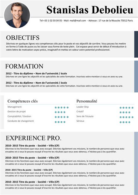 Des Exemples De Cv by Exemple De Cv Oxford Gratuit 224 T 233 L 233 Charger
