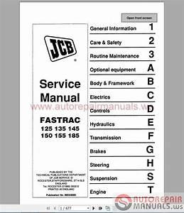 Jcb Fastrac 125 135 145 150 155 185 Service Manual