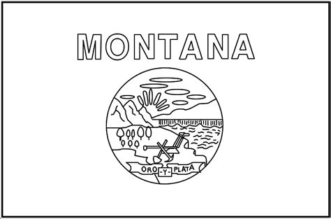 montana state colors print and color montana state flag