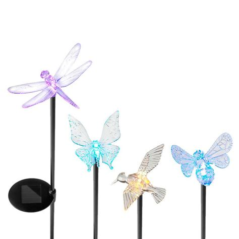 yards beyond solar powered led assorted acrylic insect