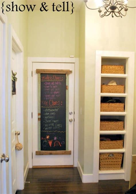 organized   diy chalkboard ideas diy projects