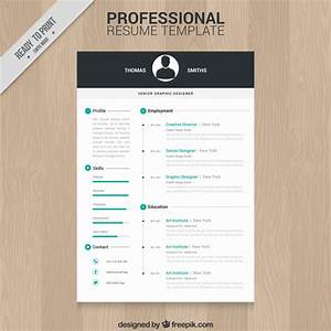 10 top free resume templates freepik blog for Free professional resume format