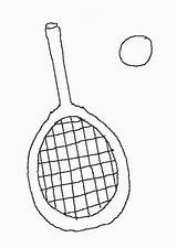 Raqueta Colorear Raquetas Dibujos Coloring Tennis Racket Racquet sketch template