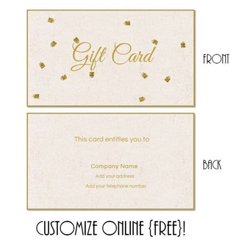 printable gift card templates    customized