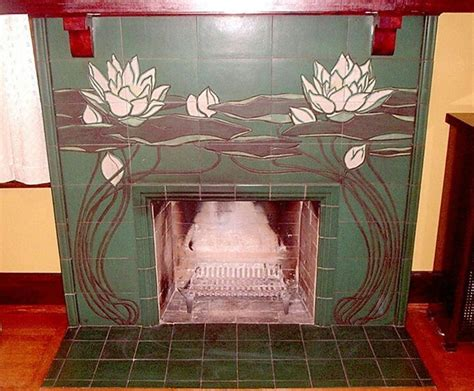 1902 rookwood pottery tile fireplace surround