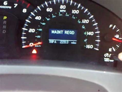 reset maintenance light toyota camry 2012 maintenance required light camry