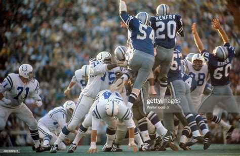 Baltimore Colts Jim Obrien In Action Making Game Winning